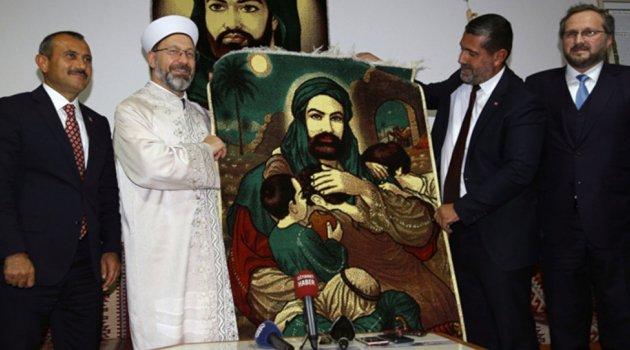 Diyanet İşleri Başkanı Erbaş'tan cemevine ziyaret