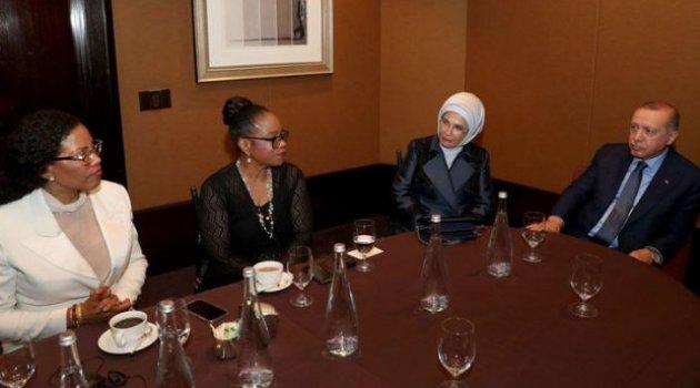 Erdoğan'dan ABD'de Malcolm X'in kızlarıyla dikkat çeken görüşme!